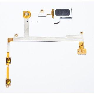 Samsung GT-I9300 Galaxy S3, GT-I9301 Galaxy S3 Neo, GT-I9305 Galaxy S3 LTE Ohr Hörer Lautsprecher, Ear Speaker, Earpiece + Lautstärketasten + LED Flex