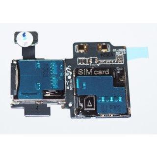 Samsung GT-I9505 Galaxy S4 LTE, GT-I9515 Galaxy S4 Value Edition Simkartenleser + Micro SD Kartenleser, Sim + SD Card Reader Flex