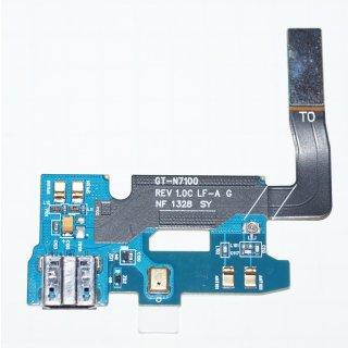 Samsung GT-N7100 Galaxy Note 2 Micro USB Ladebuchse, Connector Buchse + Mikrofon Flex