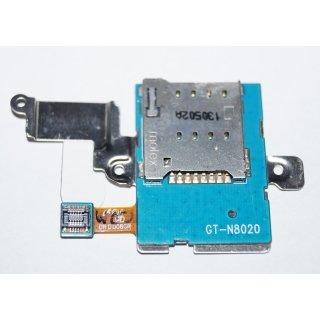 Samsung GT-N8020 Galaxy Note 10.1 LTE Simkartenleser, Kartenleser, Sim Card Reader Flex