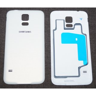 Samsung SM-G900F Galaxy S5 Akkudeckel, Battery Cover, Weiss, white