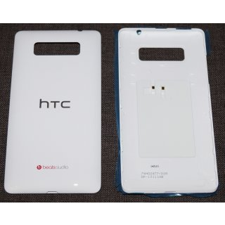 HTC Desire 600, Desire 600 Dual Sim Akkudeckel, Battery Cover, Weiss, white