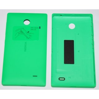 Nokia X / X+ Akkudeckel, Battery Cover, Backcover + Tasten, Grün, green