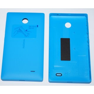 Nokia X / X+ Akkudeckel, Battery Cover, Backcover + Tasten, Cyan, Blau, blue