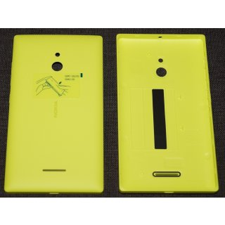 Nokia XL Akkudeckel, Battery Cover, Backcover + Tasten, Gelb, yellow