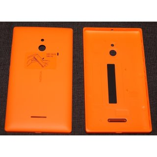 Nokia XL Akkudeckel, Battery Cover, Backcover + Tasten, Orange