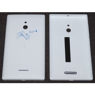 Nokia XL Akkudeckel, Battery Cover, Backcover + Tasten, Weiss, white