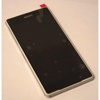 Sony Xperia Z2 LT50w (D6502, D6503, D6543) Komplette Front, Display + Touchscreen + Rahmen + Tasten + seitliche Abdeckungen, Weiss, white