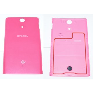 Sony Xperia VC LT25c Akkudeckel, Battery Cover, Rosa, pink