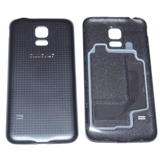 Samsung SM-G800F Galaxy S5 Mini Akkudeckel, Battery Cover, Schwarz, black