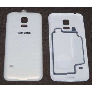Samsung SM-G800F Galaxy S5 Mini Akkudeckel, Battery Cover, Weiss, white