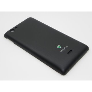 Sony Xperia Miro ST23i Akkudeckel, Battery Cover, Schwarz, black
