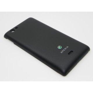 Sony Xperia Miro ST23i Akkudeckel, Battery Cover, Schwarz, black