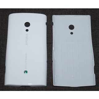 Sony Ericsson Xperia X10i Akkudeckel, Battery Cover, Weiss, luster white