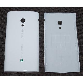 Sony Ericsson Xperia X10i Akkudeckel, Battery Cover, Weiss, luster white