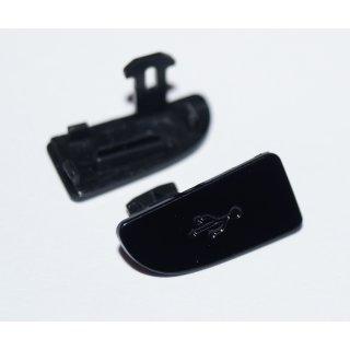 Sony Ericsson Xperia X10i Micro USB Abdeckung, Cover, Schwarz, sensous black