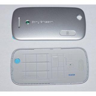 Sony Ericsson Zylo W20i Akkudeckel Gehäuse-Rückseite Backcover Silber