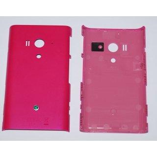 Sony Xperia Arco S LT26w Akkudeckel Gehäuse-Rückseite Backcover Pink