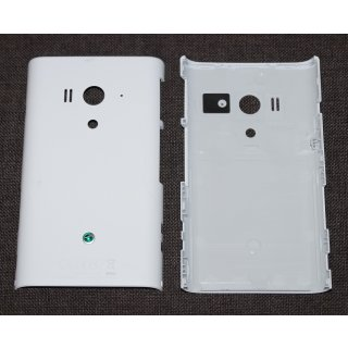 Sony Xperia Arco S LT26w Akkudeckel, Battery Cover, Weiss, white