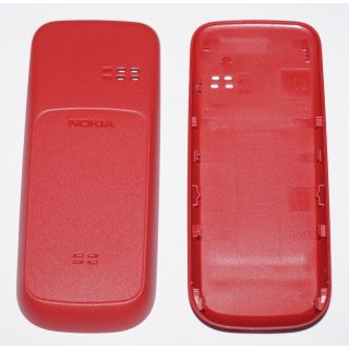 Nokia 101 Akkudeckel, Battery Cover, Rot, coral red