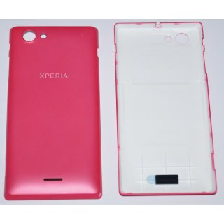 Sony Xperia J ST26i Akkudeckel, Battery Cover, pink