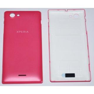 Sony Xperia J ST26i Akkudeckel Gehäuse-Rückseite Backcover pink