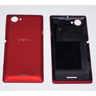 Sony Xperia L C2104 C2105 Akkudeckel Gehäuse-Rückseite Backcover Tasten Rot