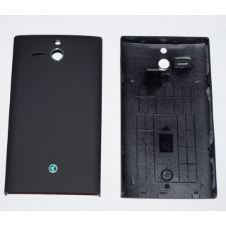 Sony Xperia U ST25i Akkudeckel, Battery Cover + Tasten, Schwarz, black