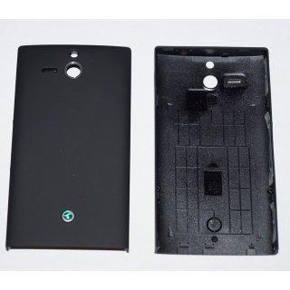 Sony Xperia U ST25i Akkudeckel Gehäuse-Rückseite Backcover Tasten Schwarz