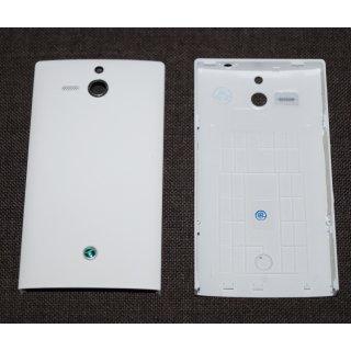 Sony Xperia U ST25i Akkudeckel, Battery Cover, Weiss, white