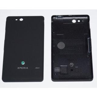 Sony Xperia Go ST27i Akkudeckel, Battery Cover + Einschalter Taste + Lautstärke Taste, Schwarz, black