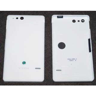 Sony Xperia Go ST27i Akkudeckel Gehäuse-Rückseite Backcover Einschalter Taste Lautstärke Taste Weiss