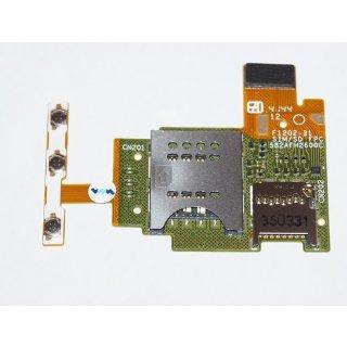 Sony Xperia J ST26i Sim + Micro SD Kartenleser, Card Reader + Seitentasten (Einschalter + Lautstärke Taste), Power Key Flex