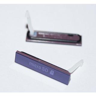 Sony Xperia Z LT36 C6602 C6603 C6606 C6616 Micro-SD Abdeckung Cover Lila