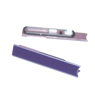 Sony Xperia Z LT36 (C6602, C6603, C6606, C6616) Micro Sim Slot Abdeckung, Cover, Lila, purple