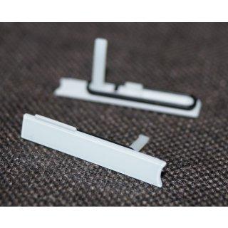 Sony Xperia Z LT36 (C6602, C6603, C6606, C6616) Micro Sim Slot Abdeckung, Cover, Weiss, white