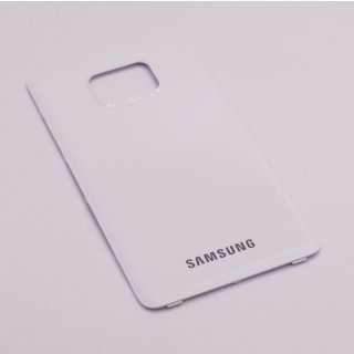 Samsung GT-I9100, I9100G Galaxy S2 II Akkudeckel, Battery Cover, Weiss, ceramic white