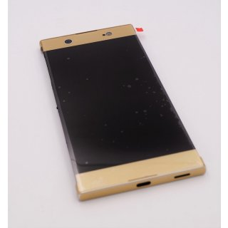 Sony Xperia XA1 Ultra (G3221, G3223), Xperia XA1 Ultra Dual Sim (G3212, G3226) LCD, Display, Anzeige, Bildschirm + Touchscreen, Touch Panel + vorderes Gehäuse, Front Cover, Gold