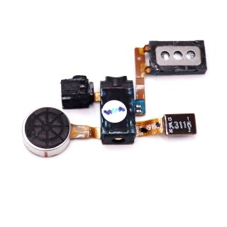 Samsung GT-I9100, GT I9100G Galaxy S2, GT-I9105P Galaxy S2 Plus Ohr Hörer Lautsprecher + 3,5mm Audio Buchse + Vibramotor + Mikrofon Flex, MODULE-RCV+MOT+MIC+E/JACK FPCB(GT_I9100) SWAP (geprüft)