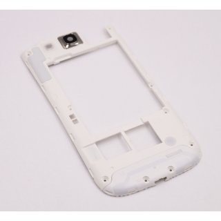 Samsung GT-I9300 Galaxy S3 hinteres Gehäuse, Backcover Frame, Weiss, white