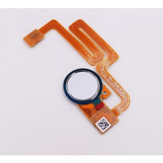 Sony Xperia XA2 Plus (H3413), XA2 Plus Dual Sim (H4413, H4496) Fingerabdruck Sensor Taste, Fingerprint Key + Flex, Silber, silver