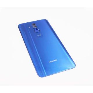 Huawei Mate 20 Lite (SNE-AL00, SNE-LX1) Akkudeckel, Battery Cover + Fingerabdrucksensor, Blau, blue
