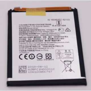 Nokia 7 (TA-1041) Akku, Battery, Li-Ion Polymer, 3060 mAh, HE340