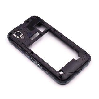 Samsung GT-S5830, GT-S5830i, GT-S5839i Galaxy Ace Mittelgehäuse, Middle Housing Cover + Tasten (Kamerataste, Laut/-Leise Taste, Micro SD Abdeckung, USB Cover), Schwarz, onyx black