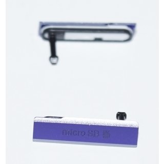 Sony Xperia Z1 LT39 (C6902, C6903, C6906, C6943) Micro SD Abdeckung, Cover, Lila, purple
